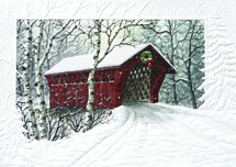 Red Covered Bridge Holiday Cards